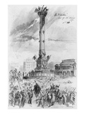 Album of the Siege of Paris, the Bastille, 26th, 27th, 28th February 1871 Giclee Print by Gustave Doré