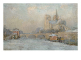 Quai De La Tournelle and Notre-Dame De Paris, 1909 (Oil on Canvas) Giclee Print by Albert-Charles Lebourg