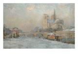 Quai De La Tournelle and Notre-Dame De Paris, 1909 Giclee Print by Albert-Charles Lebourg