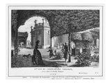 Fourth View of Trianon, Taken in the French Garden, Engraved by Francois Denis Nee (1732-1817) Premium Giclee Print by Louis-Nicolas de Lespinasse