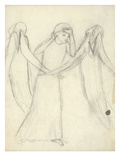 Idea for 'La Belle Dame Sans Merci' (Pencil on Paper) (See also 200312) Giclee Print by Elizabeth Eleanor Siddal