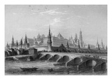 The Kremlin, Moscow (Engraving) Lámina giclée por English