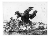 The Carnivorous Vulture, Plate 76 from 'The Disasters of War', 1812-20 (Etching) Giclee Print by Francisco de Goya