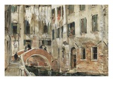 A Backwater in Venice (Oil on Paper) Giclee Print by William White Warren