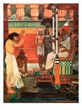 Pharaoh Tells His Dream Giclee Print by William Hatherell