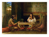 Egyptian Chess Players, 1865 (Oil on Panel) Giclee Print by Sir Lawrence Alma-Tadema