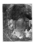 The Entombment, C.1654 (Etching) Giclee Print by  Rembrandt van Rijn