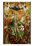 The Archangel Saint Michael in Combat with Lucifer, C.1490-1505 (Oil on Wood) Giclee Print by Hans the Elder Leu