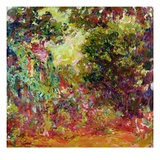The Artist's House from the Rose Garden, 1922-24 Giclee Print by Claude Monet
