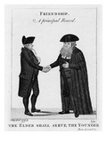 Friendship - a Principal Beard 1793 (Engraving) Giclee Print by John Kay