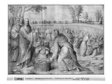 Life of Christ, Multiplication of the Loaves and Fishes, Preparatory Study of Tapestry Cartoon Giclee Print by Henri Lerambert
