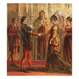 Marriage of Henry V Giclee Print by  English