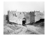 Damascus Gate, Jerusalem, 1857 (B/W Photo) Giclee Print by James Robertson