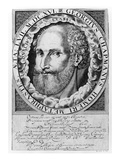 Portrait of George Chapman (C.1559-1634) C.1609-10 (Engraving) Giclee Print by William Hole