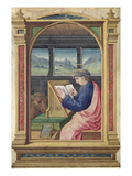 St. Luke Writing, from a Book of Hours (Vellum) Giclee Print by Jean Bourdichon