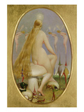 Fairy Seated on a Mushroom, C.1860 Giclee Print by Thomas Heatherley