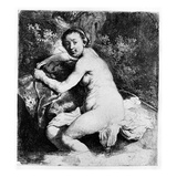 Diana at the Bath, C.1631 (Etching) Giclee Print by  Rembrandt van Rijn