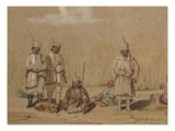 Soldiers Relaxing, 1844 (W/C and Gouache on Paper) Giclee Print by Georges de Bellio