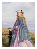 A Lady by the Sea (W/C, Pencil and Gouache) Giclee Print by John Simmons
