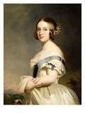 Queen Victoria (1819-1901) (Oil on Canvas) (See also 15318 and 159010) Giclee Print by Franz Xavier Winterhalter
