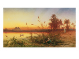 Pyramids at from the Island of Roda (Oil on Canvas) Giclee Print by Frank Dillon