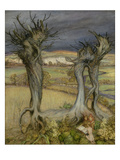 Near Amberley (Oil on Canvas) Reproduction procédé giclée par Arthur Rackham