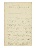 Letter (Ink on Paper) Giclee Print by Claude Monet