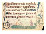 Add 42130 F.172 Weeding, from the 'Luttrell Psalter', C.1325-35 (Vellum) (For Detail See 55683) Giclee Print by  English