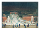 Illumination of the Saint-Cloud Fountain, 1st April 1810 (Etching and Aquatint on Paper) Reproduction procédé giclée par Philibert Louis Debucourt