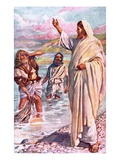 The Call of Andrew and Peter Premium Giclee Print by Harold Copping