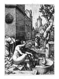 Susanna and the Elders, 1555 (Etching) Reproduction proc&#233;d&#233; gicl&#233;e par Heinrich Aldegrever