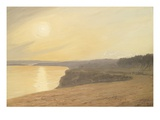 Sunset, Near Bournemouth, 1899 (Oil on Card) Giclee Print by James Hayllar
