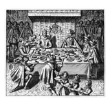 The Spanish Ambassador Dines with the King James I of England, C.1620-25 (Engraving) Giclee Print by  Spanish