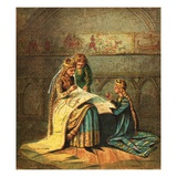 Queen Matilda and Her Tapestry Giclee Print by  English