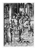 Christ Crowned with Thorns, C.1480 (Engraving) Giclee Print by Israhel van, the younger Meckenem