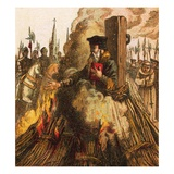 The Burning of Cranmer Giclee Print by  English