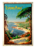 Poster Advertising Esterel-Plage, St.Raphael, C.1920 (Colour Litho) Giclee Print by Henri Gray