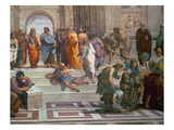 School of Athens, Detail from Right Hand Side Showing Diogenes on the Steps and Euclid, 1510-11 Reproduction procédé giclée par  Raphael