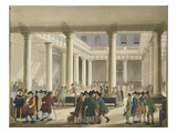 The Corn Exchange from Ackermann's 'Microcosm of London', 1808 (Aquatint) Giclee Print by T Rowlandson