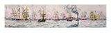 The Departure of the Fishing Trawlers to Newfoundland, 1928 (W/C on Paper) Giclee Print by Paul Signac