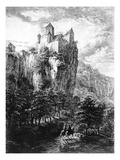 Schloss Prunn in Altmuhlthal, Print by Friedrich Wilhelm Bollinger, 1818 (Litho) Reproduction proc&#233;d&#233; gicl&#233;e par Domenico Quaglio