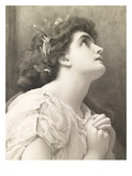Faith, after Leighton, 1900 (Watercolour) Giclee Print by John Douglas Miller