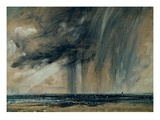 Rainstorm over the Sea, C.1824-28 (Oil on Paper Laid on Canvas) Giclee Print by John Constable