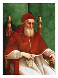 Pope Julius Ii (Oil on Panel) Reproduction procédé giclée par Raphael