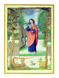 St. John the Evangelist, Form a Book of Hours (Vellum) Giclee Print by  Master of the Prayerbook