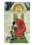 Tannhauser in the Venusburg, 1901 (Oil on Board) (See also 15172) Giclee Print by John Collier