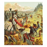 Edward I Attacks Scotland Giclee Print by  English