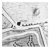 Map of Tyburn, 1746 (Litho) (Detail of 438496) Giclee Print by John Rocque