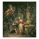 Jason Swearing Eternal Affection to Medea, 1742-43 (Oil on Canvas) Giclee Print by Jean Francois de Troy