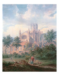 Ely Cathedral from the South East (Detail) Giclee Print by Edward Dayes